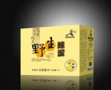 野生蜂蜜外箱設計圖片