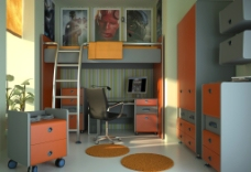 儿童房设计效果图图片