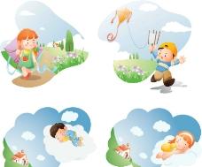 梦想儿童世界背景图片