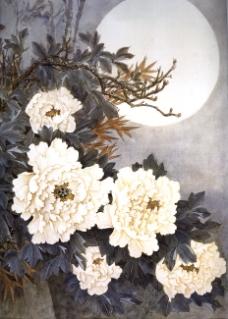 月下牡丹图