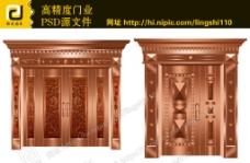 高精度铜门图片
