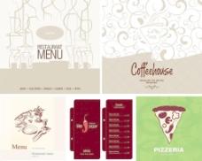 欧式花纹咖啡菜单封面设计图片