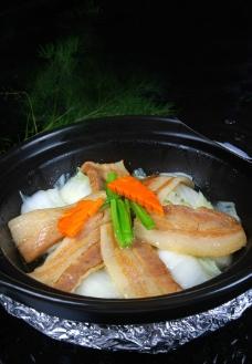 绍菜焖咸肉煲图片