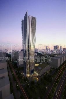摩天大厦模型图片