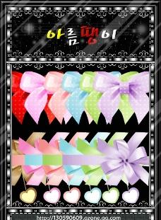 矢量絲帶與蝴蝶結圖片
