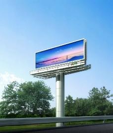 立柱广告图片