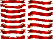 红色丝带横幅图片